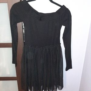 F21 off the shoulder Romper with tulle skirt